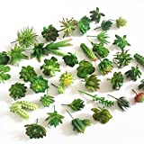 Khalee Mixed Artificial Succulent Plants Fake Succulents, (12 Different PCS, Random)