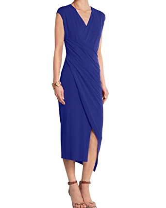 54de7f090afe4 LoveURAPpearance Drape Designer Dress   Long Dress For Womens   Petite And Plus  Size Women Dresses (LU2150247-2)  Amazon.in  Clothing   Accessories