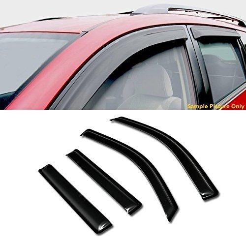 VXMOTOR Curved Style Sun/Rain Guard Smoke Vent Shade Deflector Window Visors 4PC for 2015-2017 GMC Yukon/Denali/Chevy Tahoe/Cadillac Escalade