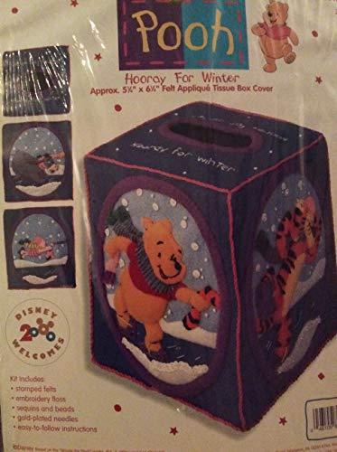 Pooh Hooray for Winter Felt Applique Tissue Box Cover Kit