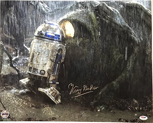 Kenny Baker signed star wars photo 16x20 esb movie psa dna coa