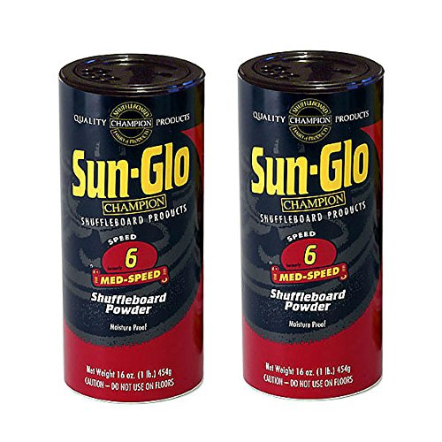 Sun-Glo #6 Shuffleboard Powder Wax (16 oz.)(Pack of 2) (Shuffleboard Pucks)