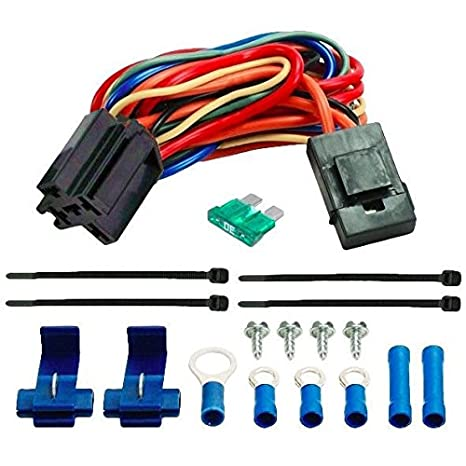 amazon com american volt electric fan wire harness kit dual 12v rh amazon com electric cooling fan wiring harness electric fan wiring harness silverado