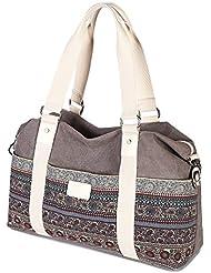 Z•G Retro Multi-purpose Tote bag Stylish bag Shoulder bag Messenger Bag Diaper bag for 15.6-Inch Laptop