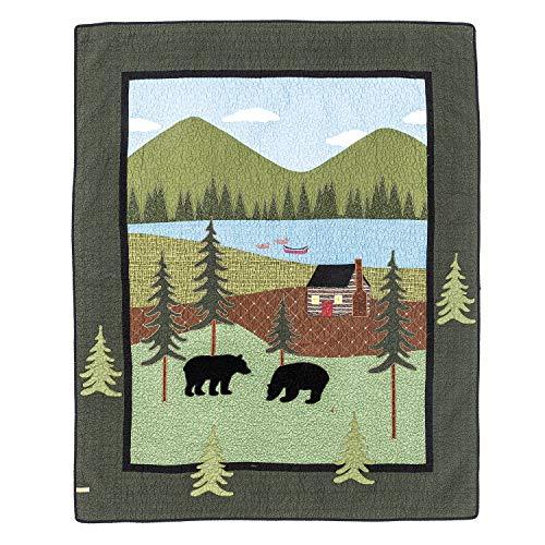 Donna Sharp Bear Lake Cotton Quilt, Throw/Blanket 50