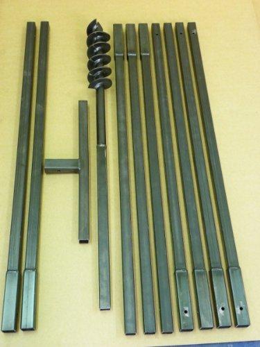 Erdbohrer Erdlochbohrer Brunnenbohrer Pfahlbohrer 90 mm 10 meter Handbohrer Bohrgerät f. Brunnen und Rammfilter