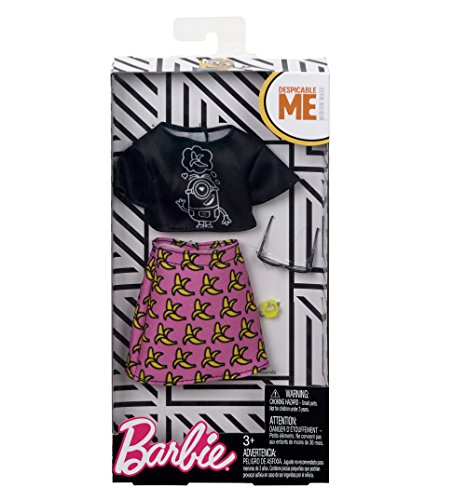 Barbie Despicable Me Black Top & Banana Skirt Fashion Pack