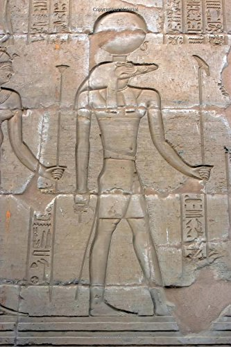 Crocodile God Sobek in Kom Ombo Temple Esna Egypt: 150 page lined notebook/diary