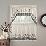CHF Industries Birds Tailored Tier Kitchen Curtain – One Pair Review