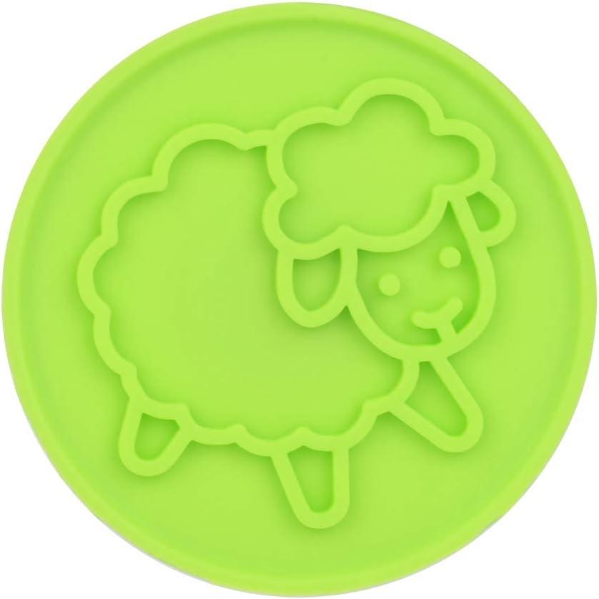 verde 2.17 4.92in Verde Sello de galletas con 6 tipos de sellos Decoraci/ón para hornear bricolaje para Moon Cake Cookie Chocolate
