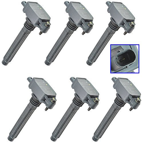 6 Piece Ignition Coil Set Direct Replacements for Chrysler Dodge Jeep Ram 3.6L