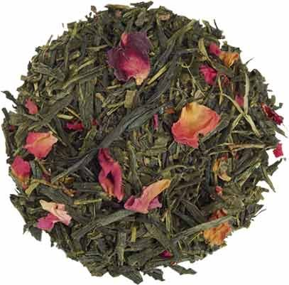 (Loose Organic Tea - Sencha Kyoto Cherry Rose Festival Green Tea -)