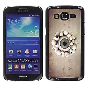 Be Good Phone Accessory // Dura Cáscara cubierta Protectora Caso Carcasa Funda de Protección para Samsung Galaxy Grand 2 SM-G7102 SM-G7105 // Eyeball Parade