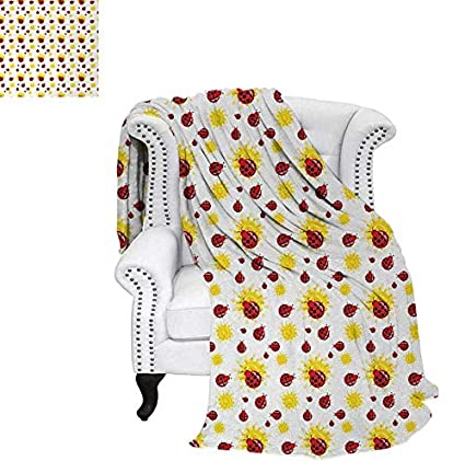 Marvelous Amazon Com Throw Blanket Summer Season Inspired Sun Pattern Caraccident5 Cool Chair Designs And Ideas Caraccident5Info
