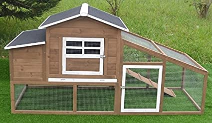 amazon com omitree deluxe wood chicken coop backyard hen house 2 4 rh amazon com Small Hen House backyard hen house plans