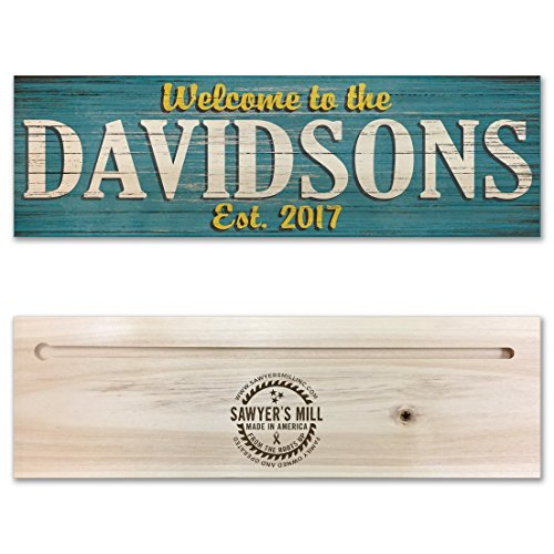 Personalized Family Name Wood Sign - Custom Made Real REAL Wood Sign - Wedding Gift
