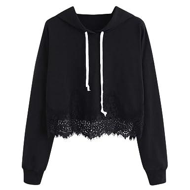 9c32deca90284 Women Teen Girls Rose Print Cold Shoulder Crop Top Printed Hoodie Long  Sleeve Pullover Croptop Sweatshirt