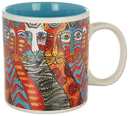 Laurel Burch Artistic Collection 14-ounce Mug, Gatos