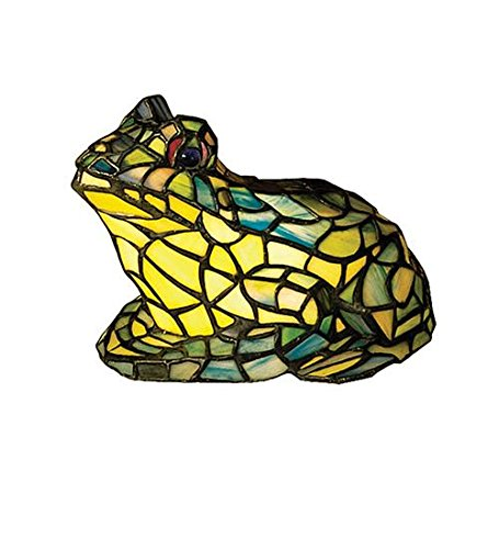 Meyda Frog Tiffany Glass Accent Lamp Stained Art # 16401