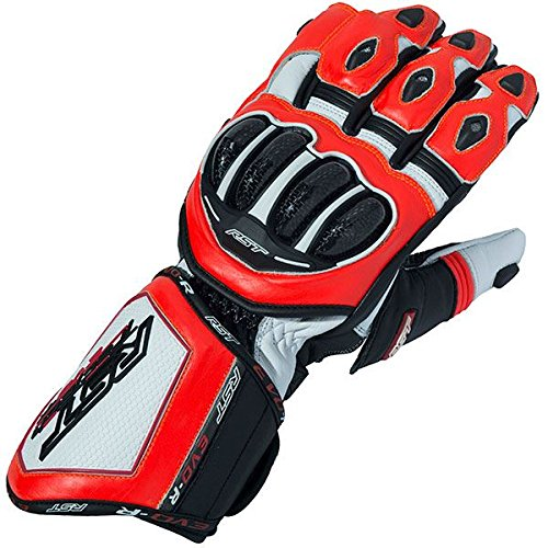 Motorcycle Rst - RST 2092 Tractech Evo R Race Sports Leather Aramid Motorcycle Gloves - Red L