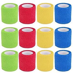 Vendaje cohesivo,12 Vendajes Elásticos Adhesivos Adhesivos Para Camuflaje de La Pegatina de Bicicleta de Caza (A) 14