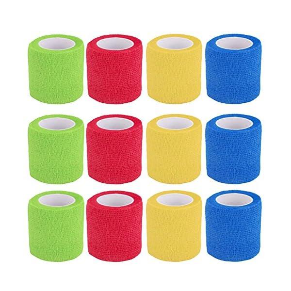 Vendaje cohesivo,12 Vendajes Elásticos Adhesivos Adhesivos Para Camuflaje de La Pegatina de Bicicleta de Caza (B) 2