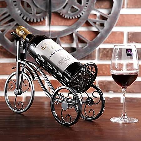 Inicio Soporte para Botellas De Vino para Bicicletas Soporte para Vino para Bicicletas De Escritorio Soporte para Botellas De Encimera Independiente para Almacenamiento De Vino Metal
