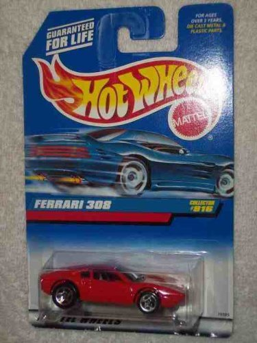 #816 Ferrari 308 Red With Black Interior Collectible Collector Car Mattel Hot Wheels 1:64 Scale
