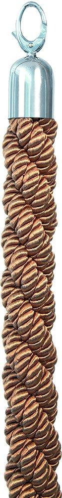 American Metalcraft RSCLRPCHBR Braided Bronze Rope, Chrome Ends