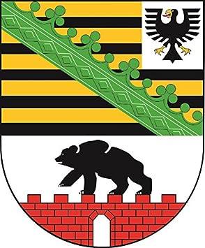 U24 Aufkleber Sachsen Anhalt Wappen Autoaufkleber Sticker Konturschnitt Auto