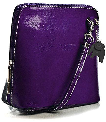 Big Handbag Shop, Borsa a tracolla donna One Viola (Medium Purple)