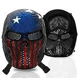 Stargoods Skeleton AirSoft Mask - Metal Mesh Paintball, BB Gun & CS Games - America