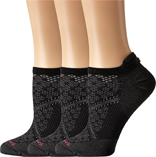 Smartwool Women's PhD Run Ultra Light Micro 3-Pair Pack Black Socks MD (Women's Shoe 7-9.5)