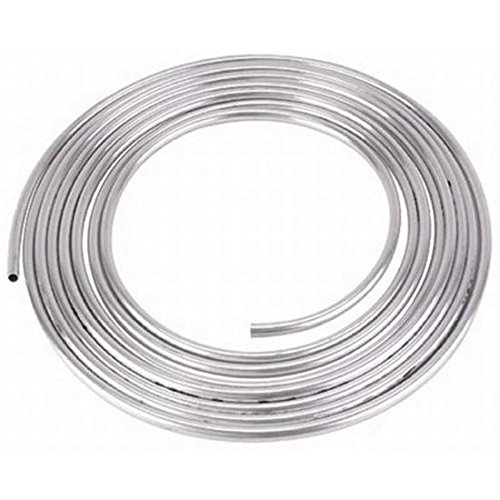 1/4 OD Aluminum 10 Feet Long Fuel Line/Tubing, 250 PSI Easy Flare/Bend by Speedway Motors