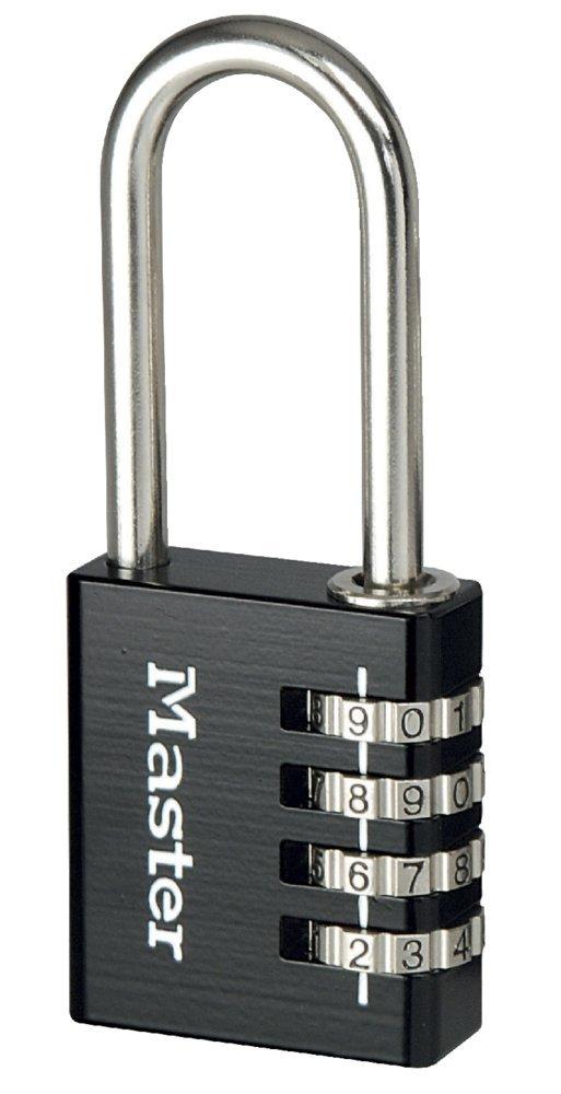 Master Lock 7640EURDBLK 40mm 4 Digit Resettable Combination Aluminium Padlock - Black