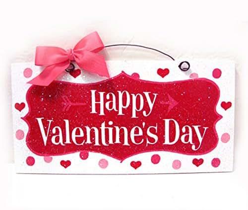 Amazon Com Happy Valentine S Day Sign Polka Dots And Hearts Handmade