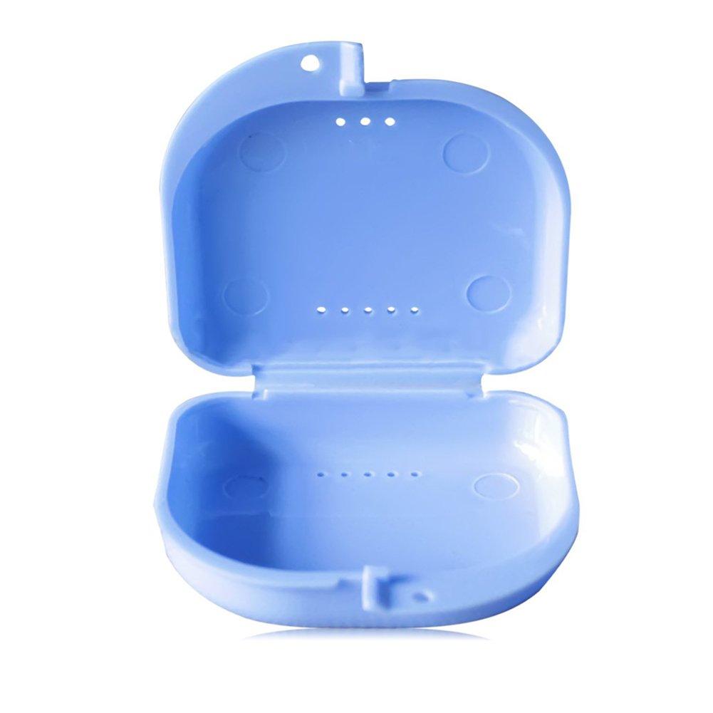 Outflower Dientes peque/ños de Caja de almacenaje//Caja de Accolades//Caja de Montaje orthodontique con los Agujeros Color Aleatorio