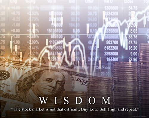 (Stock Market Motivational Poster Art Print 11x14 Chicago New York Stock Exchange Wall Street)