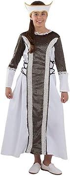 DISBACANAL Disfraz Dama Medieval Isabel niña - -, 12 años ...