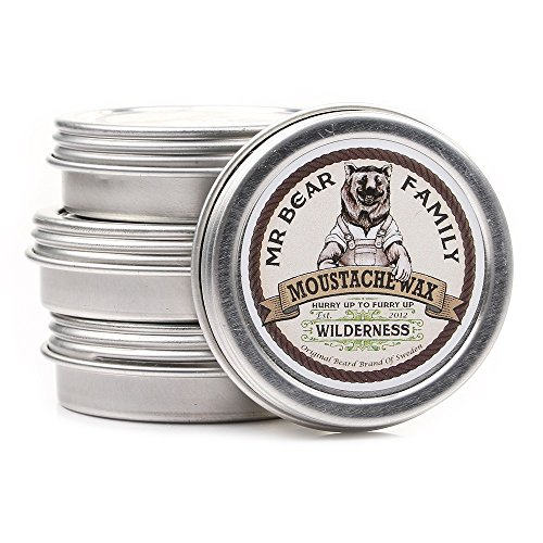 Mr Bear Family Moustache Wax (30ml/1.01oz) – Made in Sweden (SCENT: Wilderness)