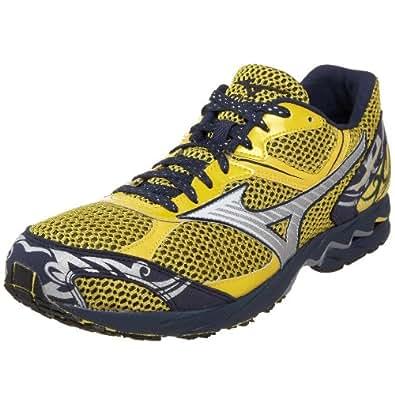 Mizuno Men's Wave Ronin 2 Running Shoe,Cyber Yellow/Silver/Dress Blue,9 D