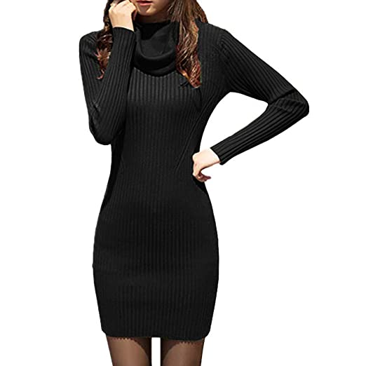 c7ccee9d7fdf 2018 New!!Ladies Long Sleeve Slim Fit Sweater,Women Cowl Neck Knit  Stretchable