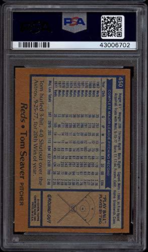 1978 Topps #450 Tom Seaver PSA 9 Mint Reds