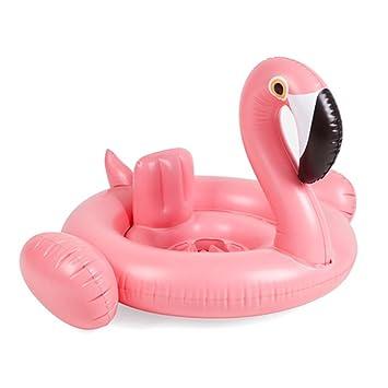Bebé de natación Ring inflable asiento Dount Flamingo Cisne flotador piscina bebé agua de verano divertido juguete Piscina Piscina para Accesorios Rosa: ...