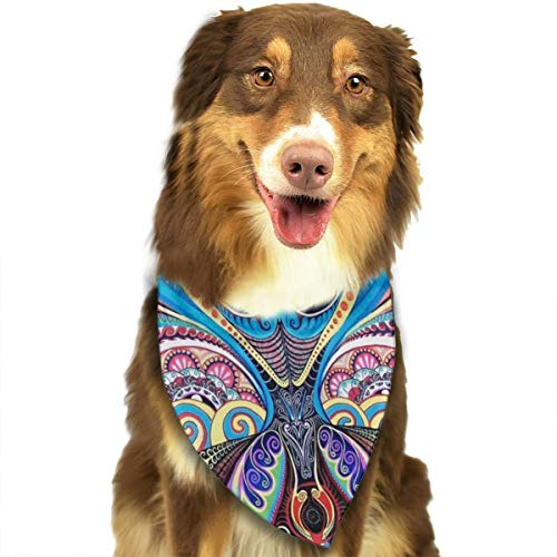 ROCKSKY Pet Dog Bandana Triangle Bibs Scarf Psychedelic Trippy Art Hankie Headchief for Dogs and Cats - Birthday Bandana Scarves Great Dog Gift Idea -