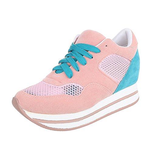 Ital-Design - Zapatillas de Material Sintético para niña, color Azul, talla 26 EU