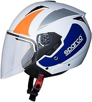 BHR 56986 Casco Moto Nero//Rosso Opaco Taglia XS