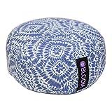 BLOOM Zafu Meditation Pillow Cushion, Round Yoga Bolster - Adjustable Buckwheat Hull Fill, Premium...