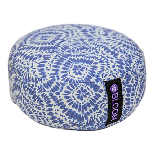 BLOOM Zafu Meditation Pillow Cushion, Round Yoga Bolster Adjustable  Buckwheat Hull Fill, Premium Cotton - BLOOM Zafu Meditation Pillow Cushion, Round Yoga Bolster