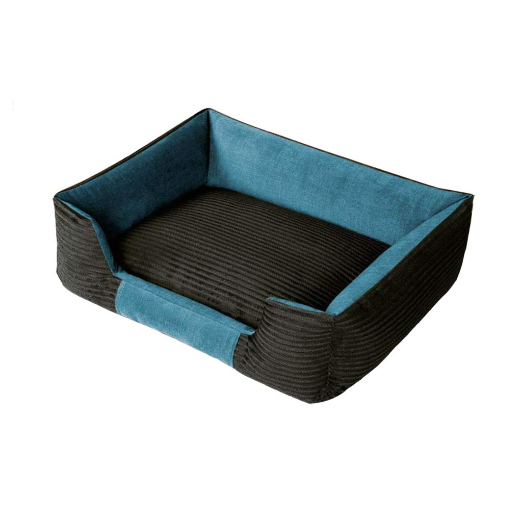 B Medium B Medium Pet house Corduroy Dog Bed, Thicken Comfortable Pet Nest Suitable For Small And Medium Dogs (color   B, Size   M)